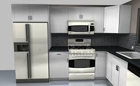 great modern kitchen with range oven fridge wall organizer wall
