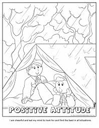 positive attitude coloring page wolf cub achievement 6a ideas