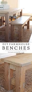 build a bench for dining table diy farmhouse bench love grows wild