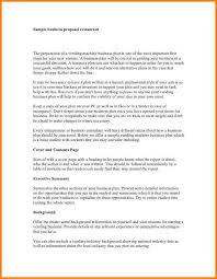 9 a sample of business proposal proposal template 2017