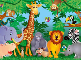Kid Room Wallpaper by Decoration Jungle Zoo Animals Wall Mural Photo Wallpaper