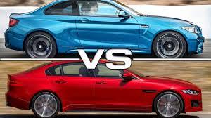 xe lexus coupe 2016 bmw m2 coupe vs 2015 jaguar xe s youtube