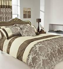 Super King Size Duvet Covers Uk Apachi Super King Size Duvet Cover Bedding Set Brown Cream
