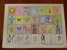 nativity fabric advent calendar version felt