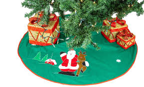 imperial home tree skirt 36 green with