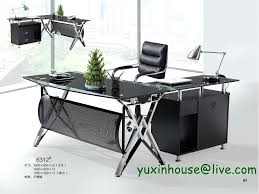 Commercial Office Furniture Desk Tempered Glass Office Desk Favorable Price Promotion Upscale