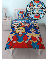 girls bedroom bedding dc super hero girls single duvet cover set rotary design