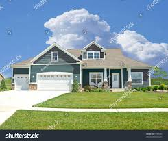 suburban home beautiful vinyl siding home stock photo 11788885