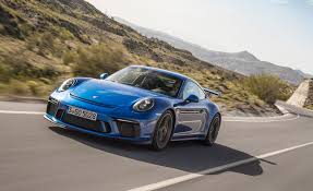 porsche blue gt3 2018 porsche 911 gt3 first drive review car and driver