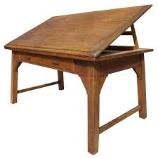 Wood Drafting Table Century Chestnut Map Or Drafting Table At 1stdibs