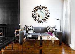 modern small rectangular black coffee table with unusual storage