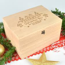 engraved box engraved christmas day wooden box personalised favours