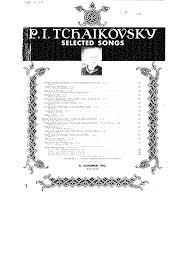 6 romances op 6 tchaikovsky pyotr imslp petrucci music