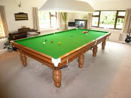 full size snooker table another re rubber and re cover on a full size snooker table near