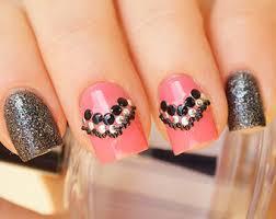 Nail Decorations Black Nails Etsy