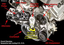 2006 jeep grand limited 5 7 hemi changing serpentine belt on 5 7 hemi jeep commander forums jeep