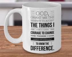 serenity prayer mug sober af mug ceramic coffee cup sobriety gift for men