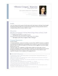 sle of resume for high school student for a rhona coogan cv