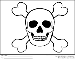 pirate coloring pages skull and bones pirates pinterest
