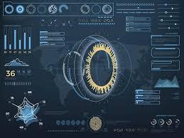 sci fi futuristic virtual ui graphics creative market