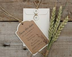 save the date luggage tags kraft card save the date luggage tags wheatgrass design x 25