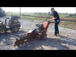 2004 ditch witch 1030 walk behind trencher demo youtube
