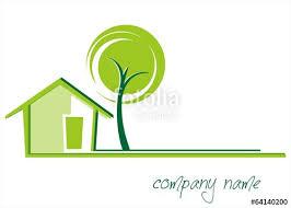 Home Design Logo Free Home Tree Green Icon Business Logo Design