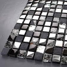 Brushed Stainless Steel Backsplash by Stone Glass Tiles 304 Brushed Stainless Steel Metal Wall Tile Ks66b