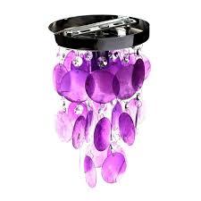 suspension chambre d enfant plafonnier chambre d enfant coquille violette cristal suspension