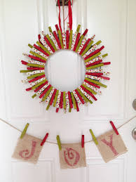 diy holiday clothespin wreath the home depot community expert