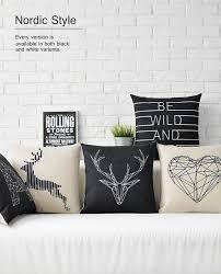 taie d oreiller pour canapé coussin d de bande dessinée noir et blanc perroquet hibou