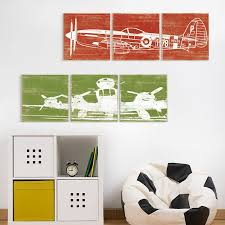 multi panel airplane art 3 piece airplane wall art by