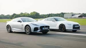 nissan gtr top gear drag races jaguar f type svr vs nissan gt r top gear