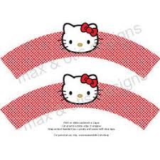 printable cupcake wrappers kitty face assorted colors