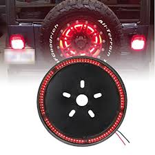 jeep wrangler third brake light amazon com spare tire brake light wheel light 3rd third brake light