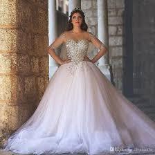 wedding corset shining beading corset with sheer sleeves gown wedding