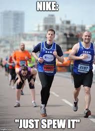 Running Marathon Meme - the meme ing of life vomit runner above average