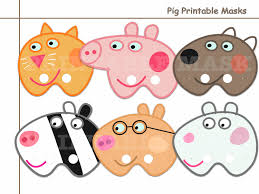 unique pig printable masks collection holidaypartystar