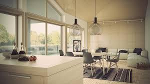 ouverture entre cuisine et salle à manger cuisine ouverte sur salon en 55 idées open space superbes