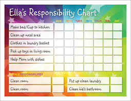 10 best images of responsibility reward chart responsibility