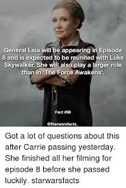 Luke Skywalker Meme - general leia will be appearing in episode 8 and is expected to be