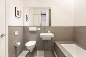 nyc bathroom design stylish contemporary bathroom design with frameless wall mirror