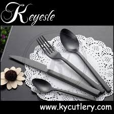 Black Cutlery Set Matte Black Plates Wedding Cutlery Set Restaurant Black Flatware