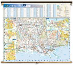 Baton Rouge Zip Code Map by Louisiana State Reference Wall Map From Geonova