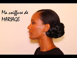 coiffure mariage africaine ma coiffure de mariage sur cheveux afro naturels crépus