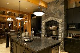 granite luxury kitchen beautiful home design