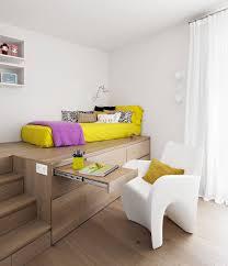 Schreibtisch Ausfahrbar Coole Zimmer Ideen Für Jugendliche Mit Schrank Als Podest Für Bett