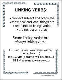 linking verbs grammar posters i abcteach com abcteach