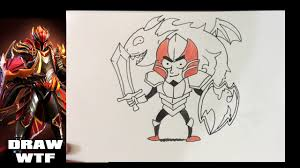 Drawing Games How To Draw Dota 2 Heroes Dragon Knight Funny Dirty Drawing