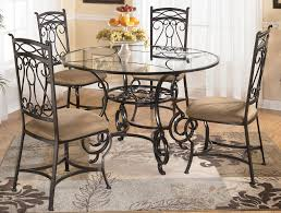 Surprising Round Glass Dining Room Tables And Chairs  With - Glass round dining room tables